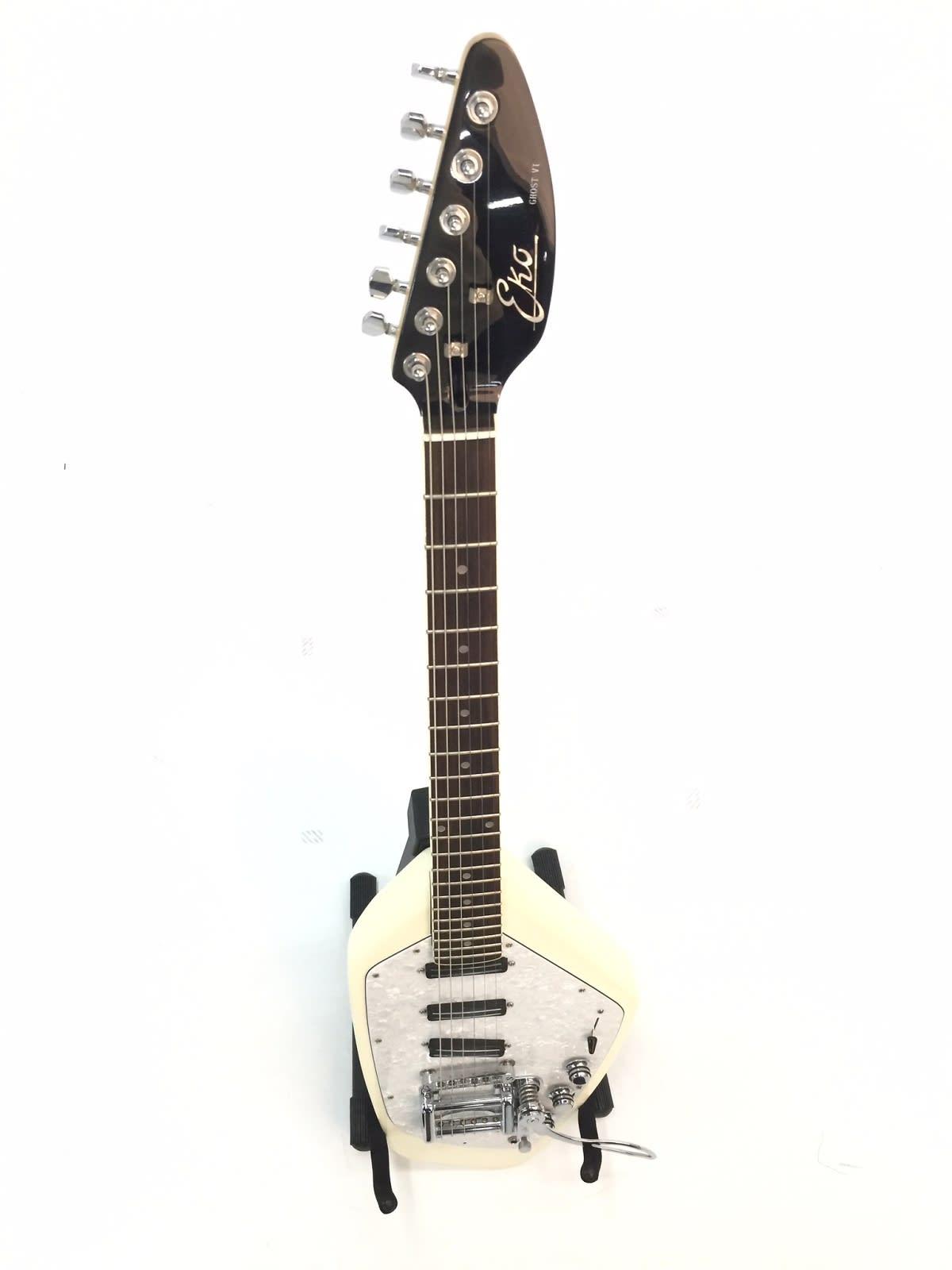 eko ghost vi electric guitar w tremolo white reverb. Black Bedroom Furniture Sets. Home Design Ideas