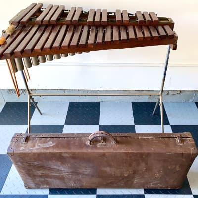 """J.C. Deagan Model #844 """"Drummer's Special"""" Xylophone Circa 1920's  w/case - True Closet Classic"""
