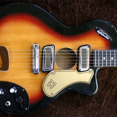 Extremely Rare Vintage  1960s  Meazzi Hollywood - Old Jazz - Sunburst - Made in Bella Italia for sale