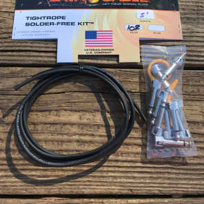 LAVA Cable BLACK Tightrope Solder-Free Pedal Board Kit 5' Cable & 10 RA PLUGS