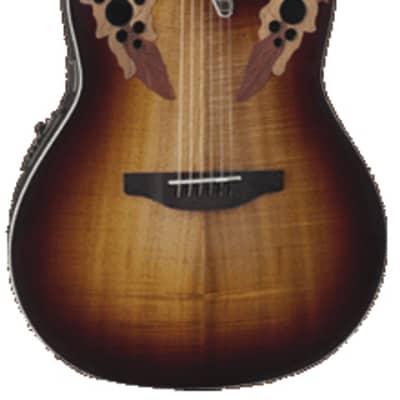 Ovation Celebrity Elite Plus Super Shallow Acoustic-Electric Guitar - Dark Burst for sale