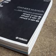 Yamaha Owners Manual for Motif 6, 7, and 8