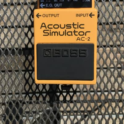 Boss AC-2 Acoustic Simulator (yellow/orange)/Jon Sidel Collection