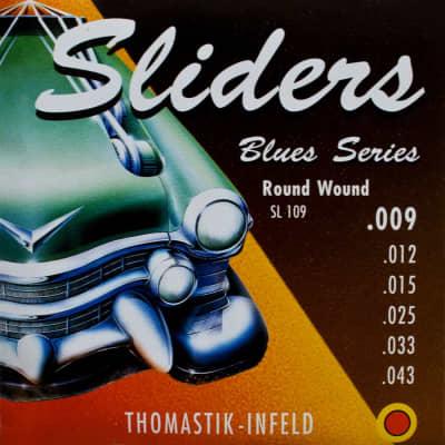 Thomastik-Infeld SL109 Blues Sliders Round-Wound with Silk Inlay Guitar Strings - Light (.09 - .43)