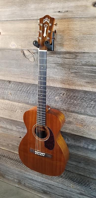 Guild m-120E Concert Size All Solid Mahogany A/E Guitar w/ Guild polyfoam case image