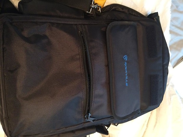 43d5d925a927 Rockville RVBAG25 25-Key Case Soft Carry Bag Backpack For Impulse+Launchkey  25 Keyboards Black