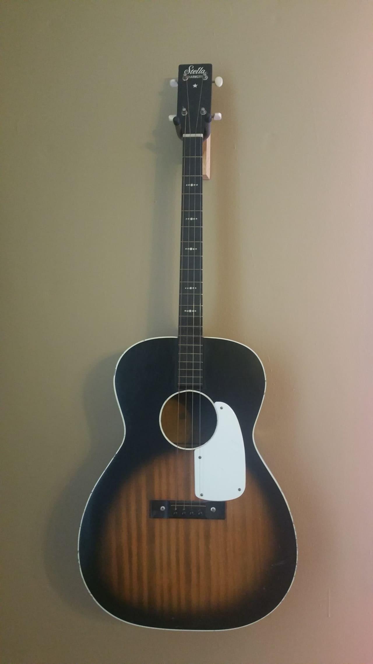 Stella Harmony H929tg Tenor Guitar 1960 S Sunburst Reverb