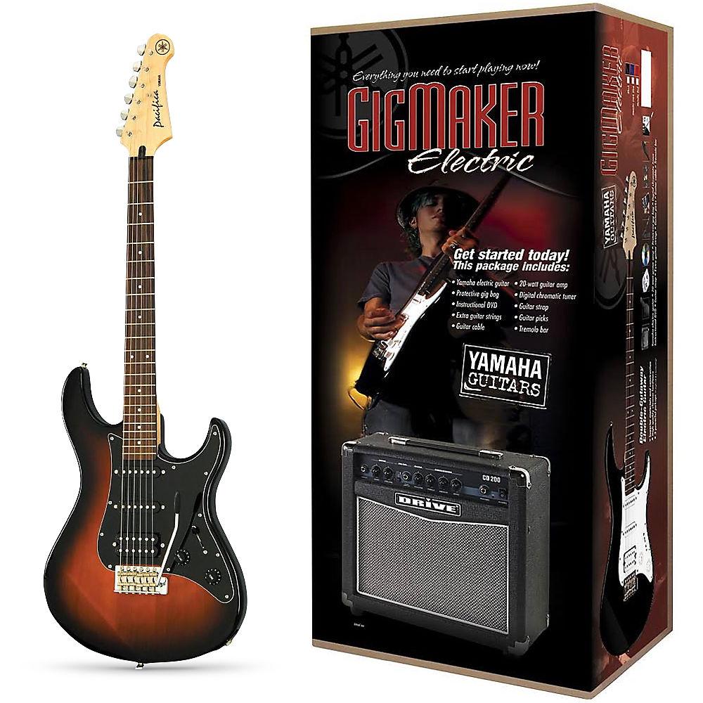 Yamaha Gigmaker Electric Guitar Pack Violin Sunburst