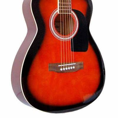 Aria AF-15 Folk Body Acoustic Guitar in Brown Sunburst for sale