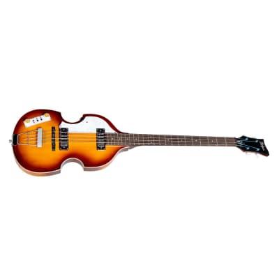 Hofner Violin Bass, Left-Handed, Thermo Modified Jatoba, Ignition Sunburst