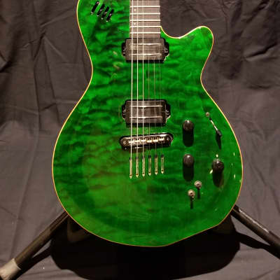 Godin LGX-SA with AA Quilted Maple Top 2010s Emerald Green for sale