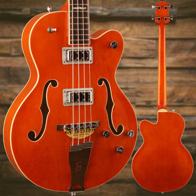 Gretsch G5440LSB Electromatic Hollow Body 34'' Long Scale, Rw Fngrbrd, Orange S/N KS17123218, 8lbs, for sale