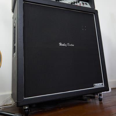 Harley Benton G412S Vintage 4x12 Speaker Cabinet (Celestion Vintage 30's) Black for sale