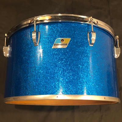 "Ludwig 18"" Concert Tom 1970s Blue Sparkle"