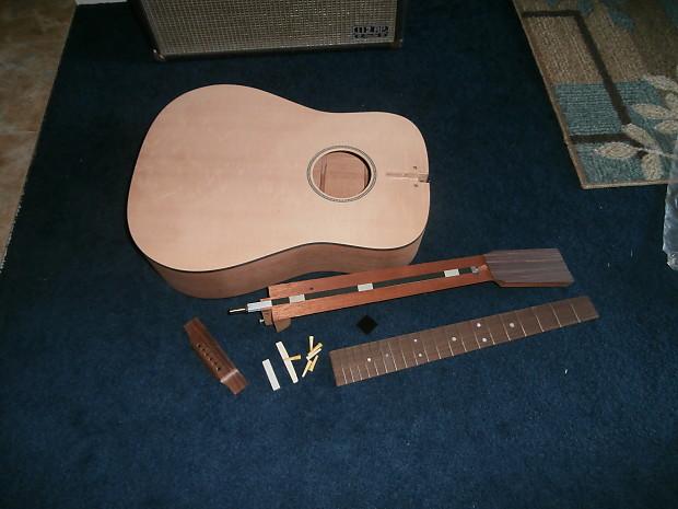 Martin Dm Acoustic Guitar Build Kit Body Neck Bridge Fretboard