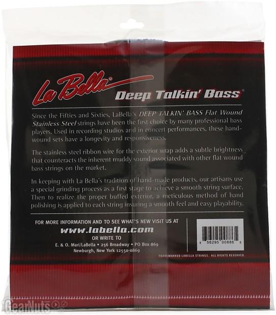 la bella 0760m deep talkin 39 bass flatwound bass strings reverb. Black Bedroom Furniture Sets. Home Design Ideas