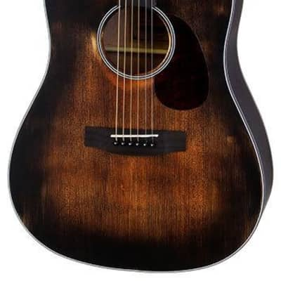 Aria Delta Players Series Dreadnought Acoustic Guitar in Muddy Brown Finish for sale
