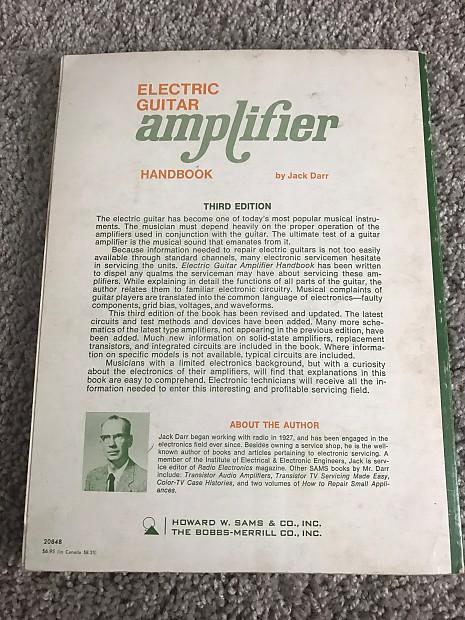 Electric Guitar Amplifier Handbook By Jack Darr Third Edition Reverb