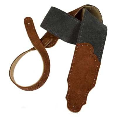 Franklin Strap 2.5'' Gray Suede With Rust Suede Ends