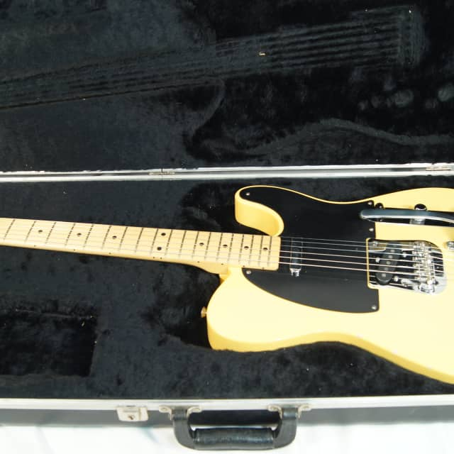 Fender '52 Reissue Telecaster 2014 Butterscotch Blonde Neck Date 10/27/2014 With B5 Bigsby image