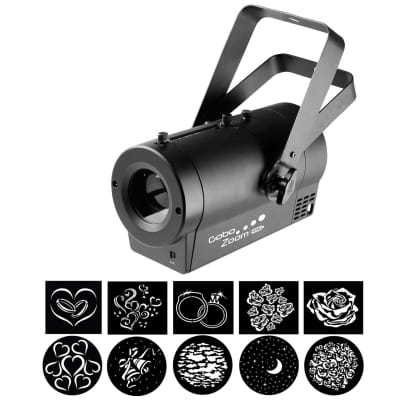 Chauvet DJ Gobo Zoom USB Manual Zoom Comapact Wireless Monogram Projector