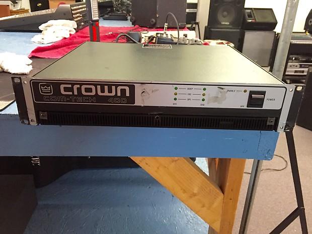 Crown Com-Tech 400 Power Amplifier   Main Street Music