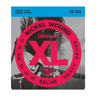 D'Addario EXL145 Electric Guitar Strings 12-54