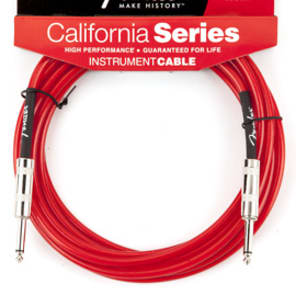 Fender California Series 15' Instrument Cable, Candy Apple Red for sale