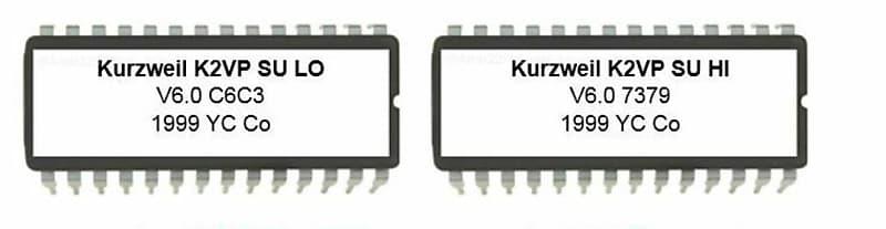 KURZWEIL K2000 K2000R Setup Eproms new Setup Eproms Version 1.00 ROM 1