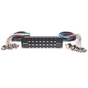 Seismic Audio SARMSS-24x1515 24-Channel Rack Mount XLR/TRS Combo Splitter Snake Cable w/ 2 15' XLR Trunks