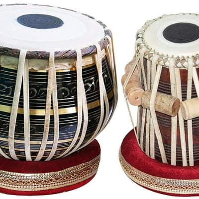 Naad  Naad Indian,Sheesham Wood Hand Made Brass Bayan & Dayan Tabla Set 2020 Finish