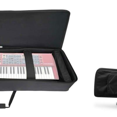 Rockville 88 Key Slim Padded Rigid Keyboard Gig Bag Case For NORD Stage 2 HA88