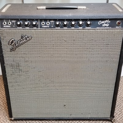 vintage 1964 Fender Concert Blackface 40-Watt 4x10 Combo, Good Condition