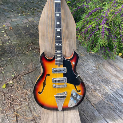 Horugel  Late 60's Trini Lopez Style Tiesco Made in Japan Sunburst for sale