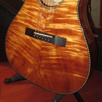 ~2008 Pono PGKC Small Bodied Acoustic Flamed Hawaiian Koa for sale