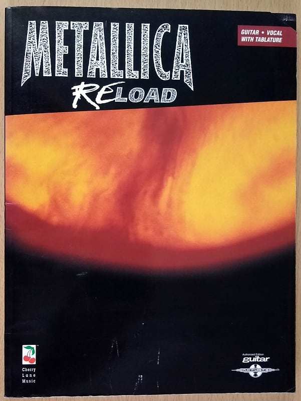 metallica reload guitar and vocal tab book tablature vocals reverb. Black Bedroom Furniture Sets. Home Design Ideas