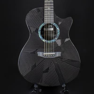 RainSong BI-OM1000N2 Acoustic Black Ice Series Graphite Top Clear Carbon Guitar 2019