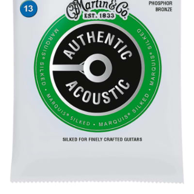 Martin MA550S Authentic Acoustic Marquis Silked Strings 92/8 Phos Bronze, Medium