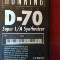 Roland D-70 Super L/A Synthesizer VHS info/demo video tape 1990 black