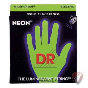 DR NGE-11 HiDef Neon Electric Guitar Strings - Medium 11-50