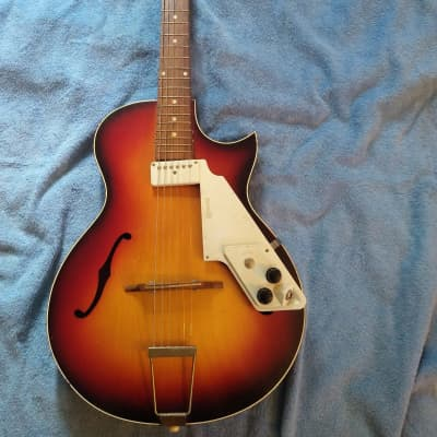Egmond Acoustic Electric1960s Sunburst for sale
