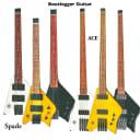 BootLegger Guitar Spade Headless Travel Guitar 2020 White With Bootlegger Flask