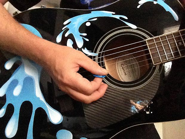 guitar decals water splash stickers for acoustic guitars reverb. Black Bedroom Furniture Sets. Home Design Ideas