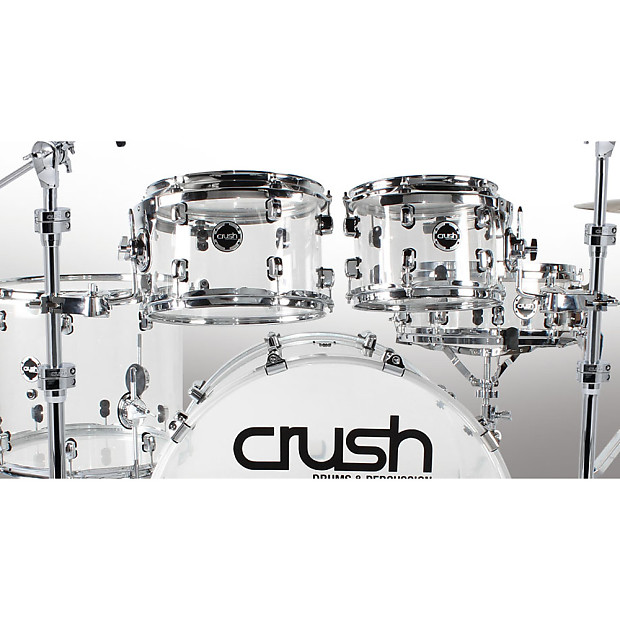 crush acrylic 4 piece drum kit clear 22 kick 10 12 reverb. Black Bedroom Furniture Sets. Home Design Ideas