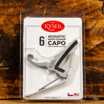 Kyser Quick-Change Capo for Acoustic or Electric Guitar - Silver