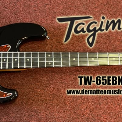 Tagima TW-65EBK 4-String Electric Bass Guitar (Black) for sale