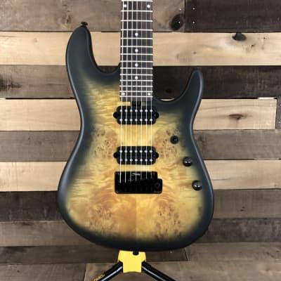 Sterling by Music Man Jason Richardson Cutlass 7-String Electric Guitar w/ Gig Bag - Natural Poplar Burl Burst for sale