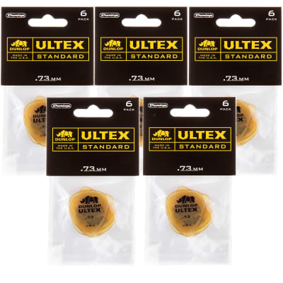 Dunlop Ultex Standard .73mm 5 Pack (30) Bundle
