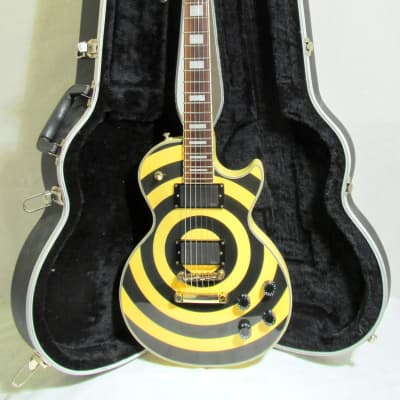 Used Epiphone Zakk Wylde Bullseye Les Paul Custom 2008 MIK VGC w/HSC See Photos and Shipping Details for sale