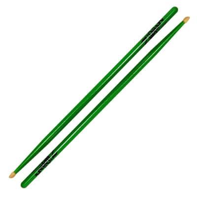 Zildjian Z5AACDGG 5A Acorn Wood Tip, Neon Green